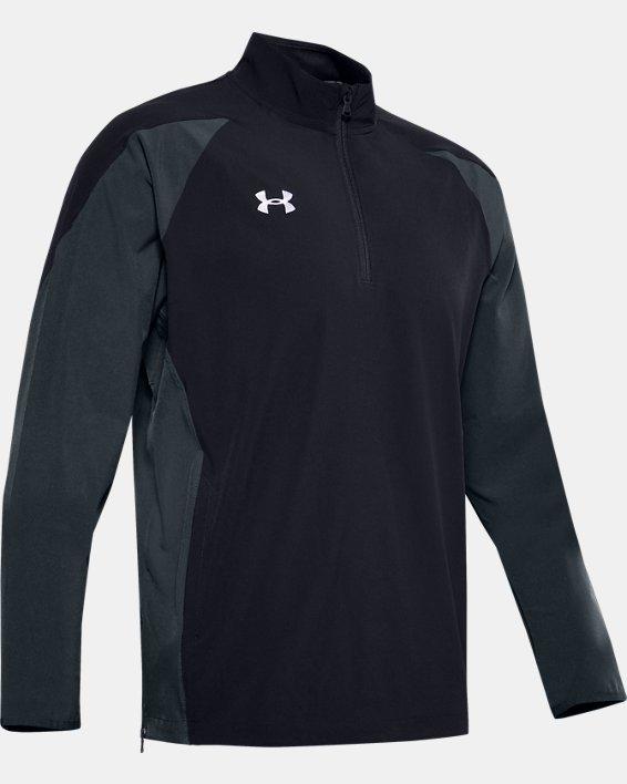 Men's UA Squad Coach's Long Sleeve ¼ Zip, Black, pdpMainDesktop image number 4