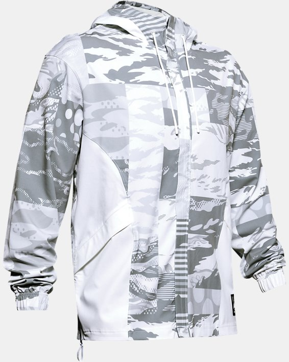 Men's UA Moments Wind Jacket, White, pdpMainDesktop image number 4