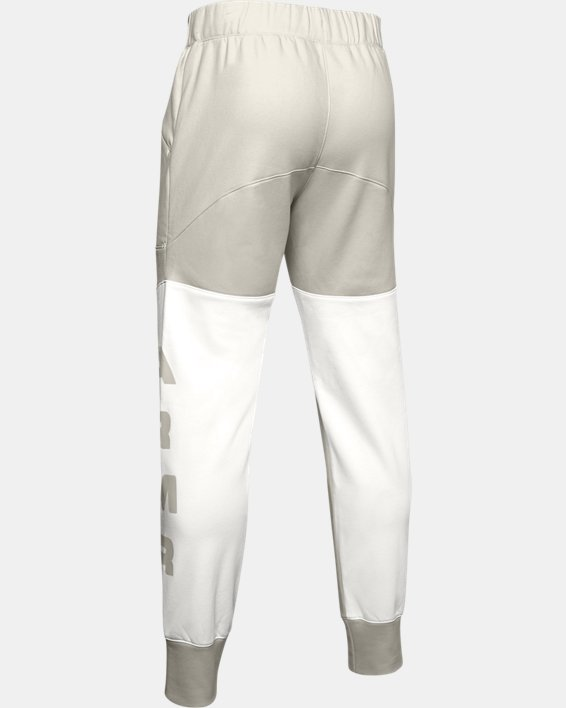 Men's UA Moments Fleece Pants, White, pdpMainDesktop image number 4