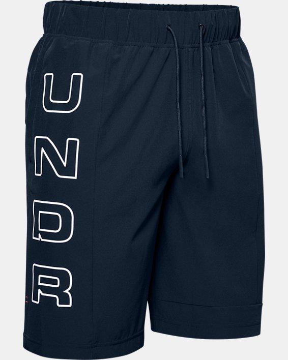 Men's UA Moments Wind Shorts, Navy, pdpMainDesktop image number 4