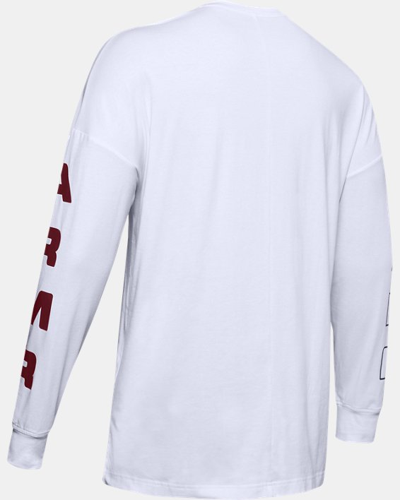 Men's UA Moments Long Sleeve, White, pdpMainDesktop image number 5
