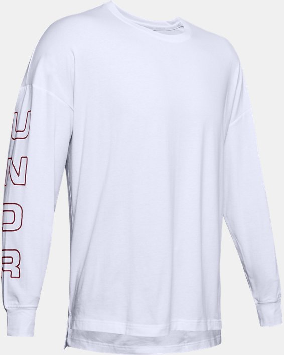 Men's UA Moments Long Sleeve, White, pdpMainDesktop image number 4