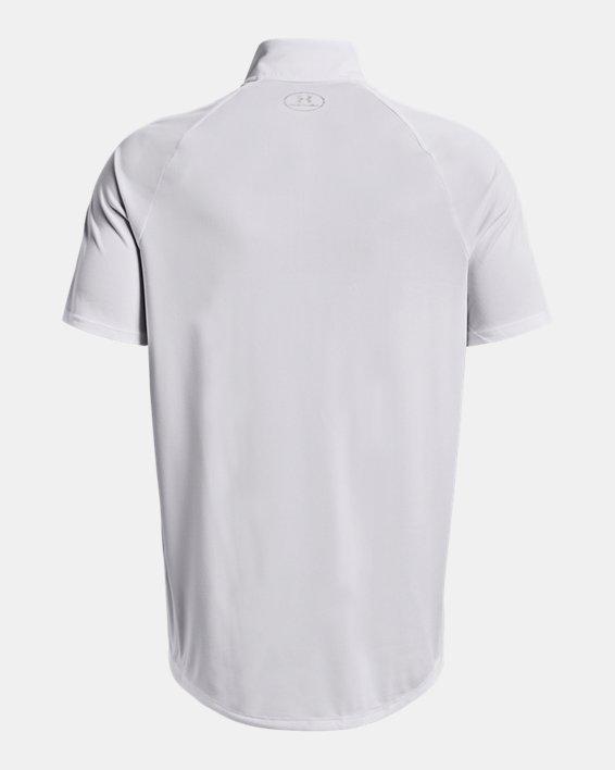 Men's UA Locker Jacquard ¼ Zip, White, pdpMainDesktop image number 1