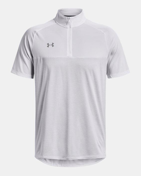 Men's UA Locker Jacquard ¼ Zip, White, pdpMainDesktop image number 0