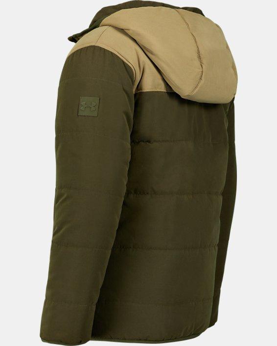 Boys' Pre-School UA Reversible Nolan Puffer Jacket, Green, pdpMainDesktop image number 2