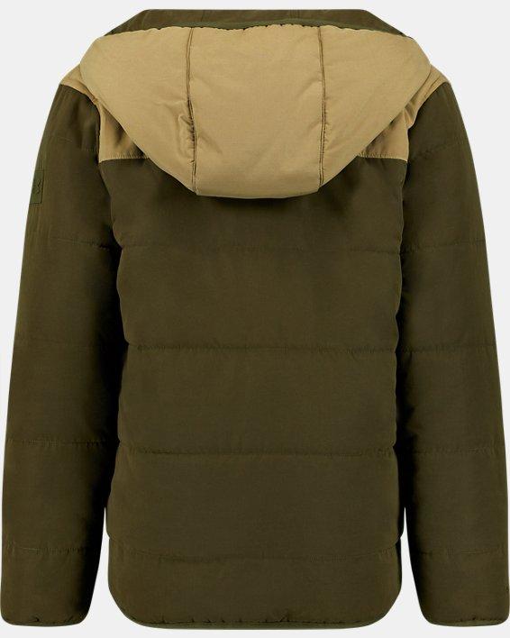 Boys' Pre-School UA Reversible Nolan Puffer Jacket, Green, pdpMainDesktop image number 3