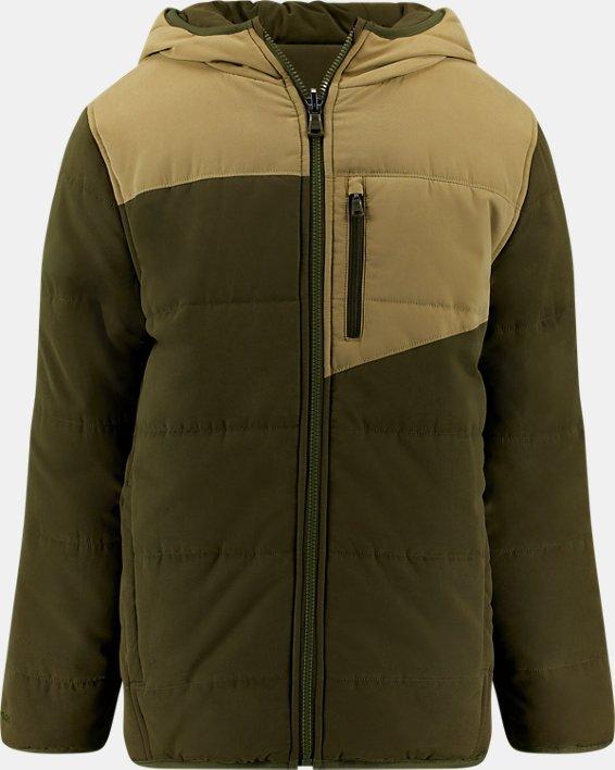 Boys' Pre-School UA Reversible Nolan Puffer Jacket, Green, pdpMainDesktop image number 0