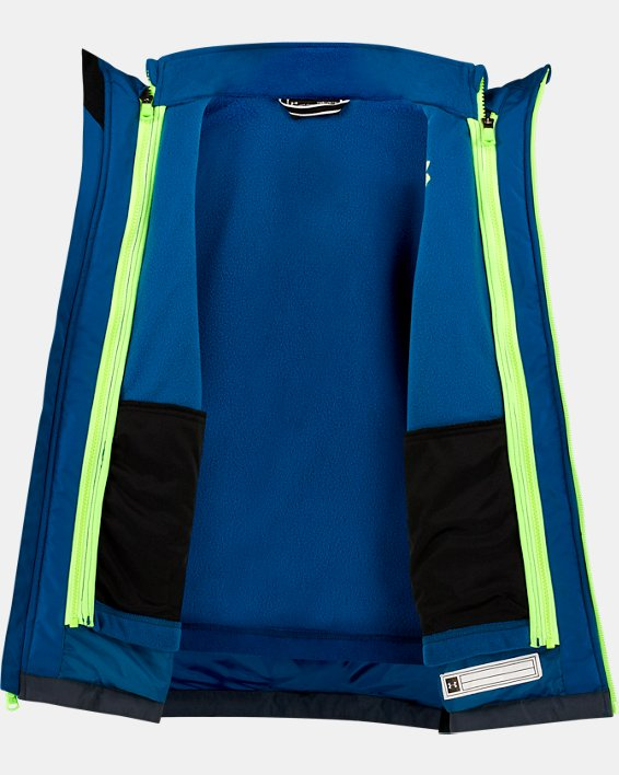 Boys' Pre-School UA Westward 3-in-1 Jacket, Green, pdpMainDesktop image number 2