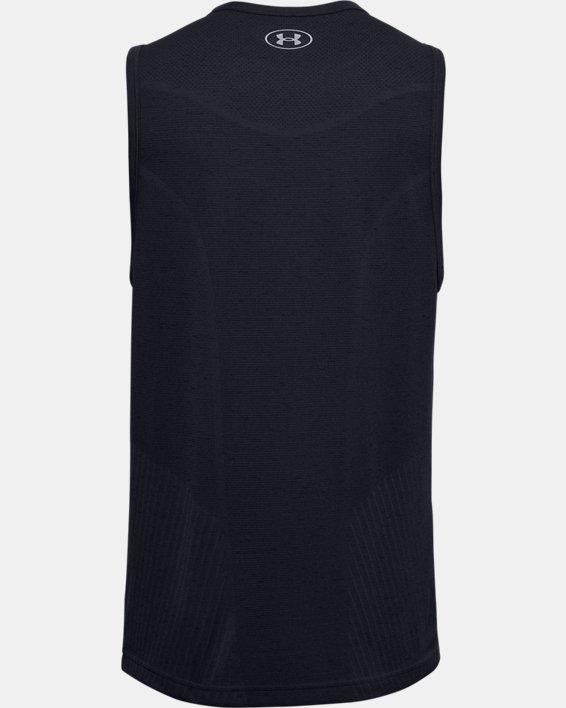 Débardeur UA Seamless pour homme, Black, pdpMainDesktop image number 4