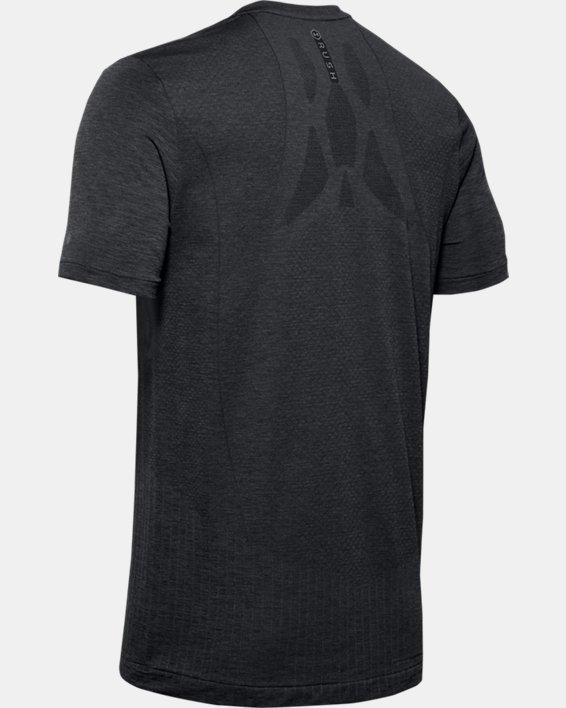 Men's UA RUSH™ Seamless Fitted Short Sleeve, Black, pdpMainDesktop image number 4