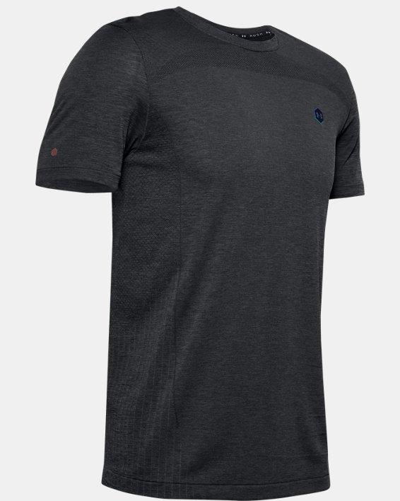 Men's UA RUSH™ Seamless Fitted Short Sleeve, Black, pdpMainDesktop image number 3