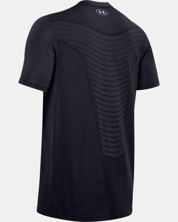 Men's UA Seamless Wave Short Sleeve, Black, pdpMainDesktop image number 5