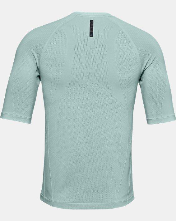 T-shirt à manches courtes UA RUSH™ Seamless Compression pour homme, Blue, pdpMainDesktop image number 6