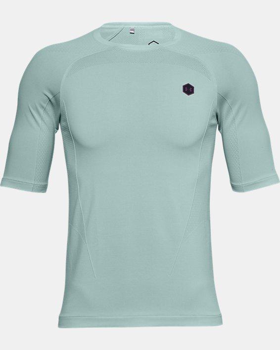 T-shirt à manches courtes UA RUSH™ Seamless Compression pour homme, Blue, pdpMainDesktop image number 5