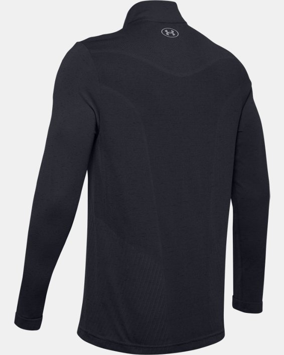 Men's UA Seamless ½ Zip, Black, pdpMainDesktop image number 5