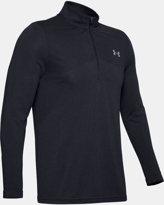 Men's UA Seamless ½ Zip, Black, pdpMainDesktop image number 4