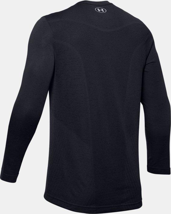 Men's UA Seamless Long Sleeve, Black, pdpMainDesktop image number 5