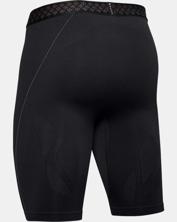 Men's UA RUSH™ Seamless Long Shorts, Black, pdpMainDesktop image number 6