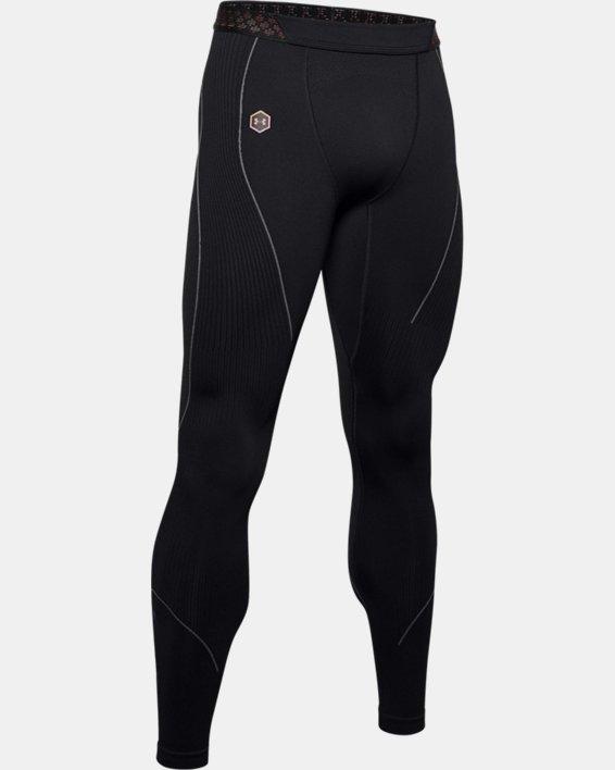 Men's UA RUSH™ Seamless Leggings, Black, pdpMainDesktop image number 5
