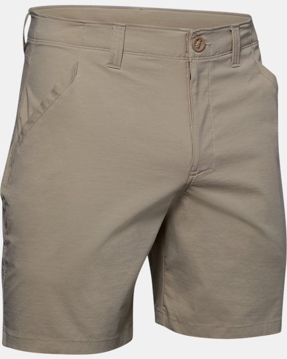 "Men's UA Fish Hunter 8"" Shorts, Brown, pdpMainDesktop image number 4"