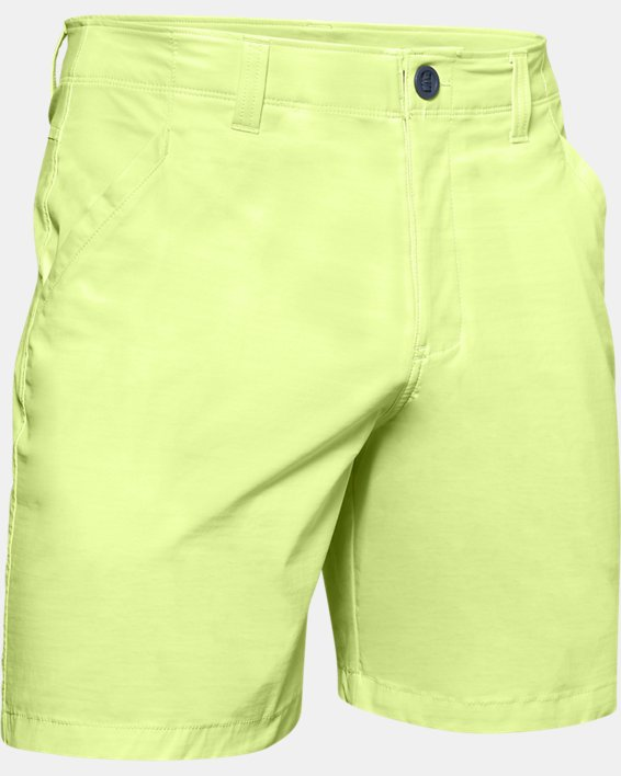 "Men's UA Fish Hunter 8"" Shorts, Yellow, pdpMainDesktop image number 4"