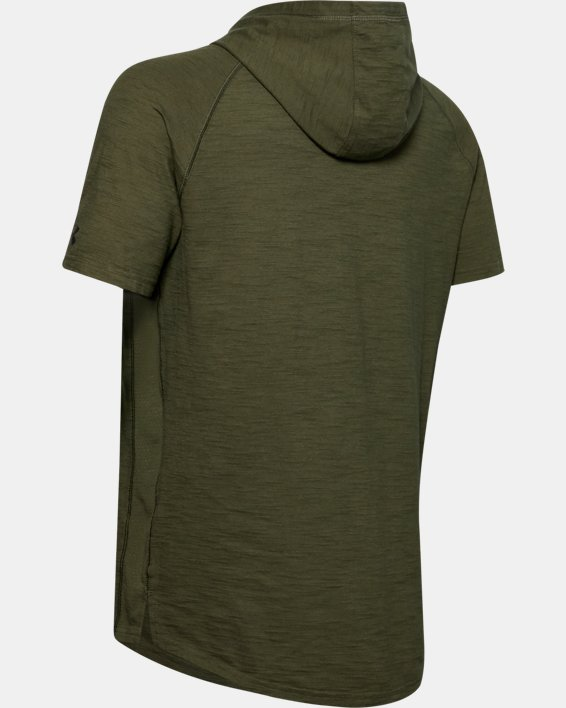 Men's Project Rock Charged Cotton® Short Sleeve Hoodie, Green, pdpMainDesktop image number 5