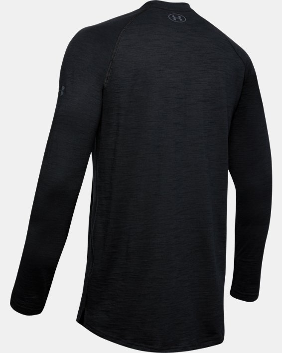 Men's Project Rock Charged Cotton® Long Sleeve, Black, pdpMainDesktop image number 5