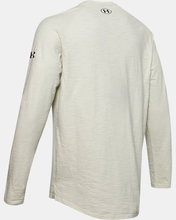 Men's Project Rock Charged Cotton® Long Sleeve, White, pdpMainDesktop image number 5