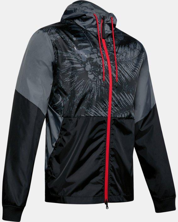 Men's Project Rock Legacy Windbreaker Jacket, Black, pdpMainDesktop image number 3