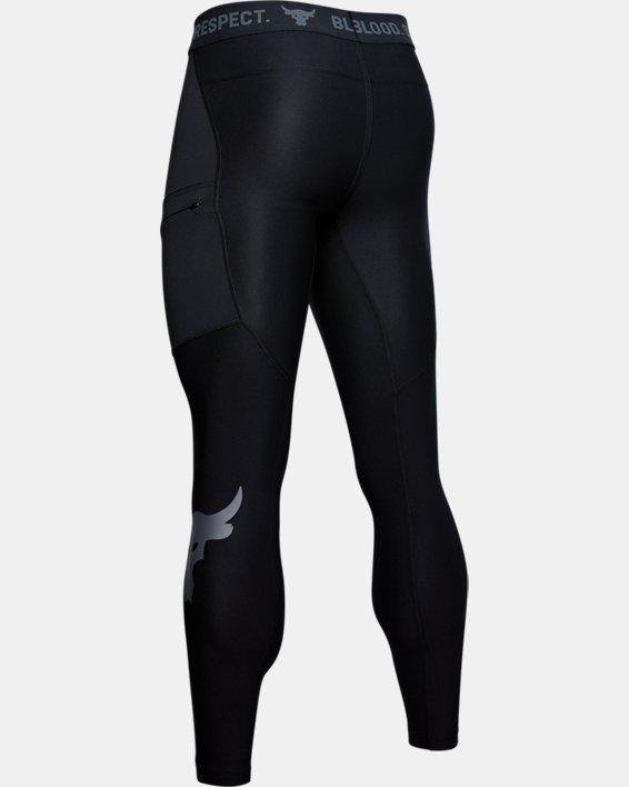 Men's Project Rock Leggings, Black, pdpMainDesktop image number 5