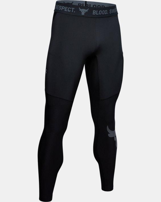 Men's Project Rock Leggings, Black, pdpMainDesktop image number 4