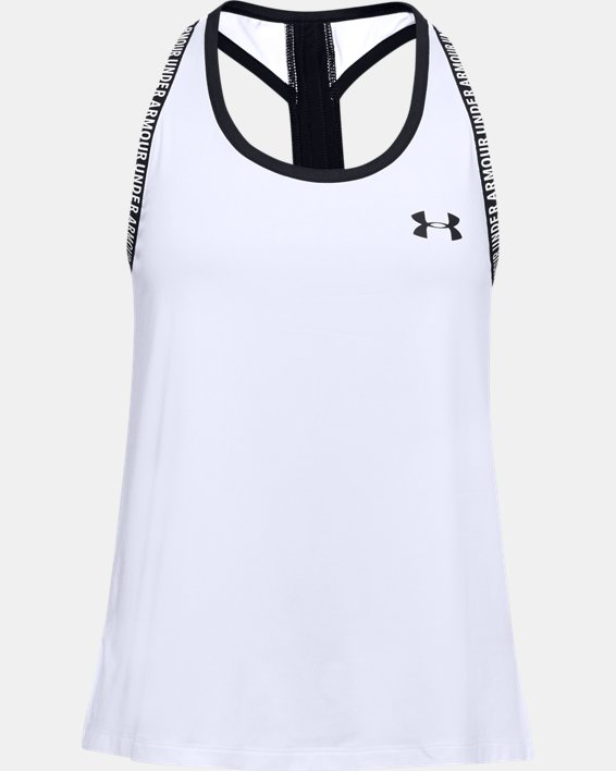 Girls' UA Knockout Tank, White, pdpMainDesktop image number 0
