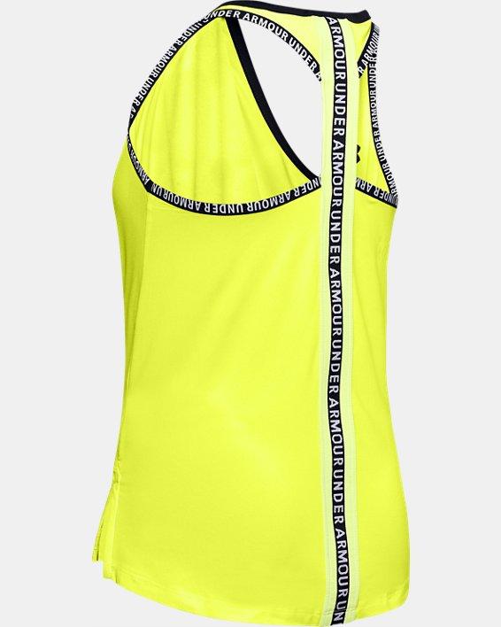 Girls' UA Knockout Tank, Yellow, pdpMainDesktop image number 1