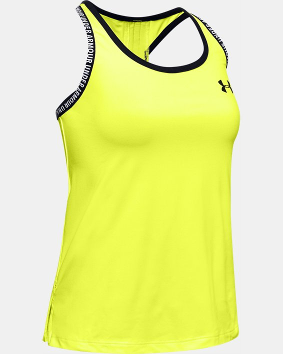 Girls' UA Knockout Tank, Yellow, pdpMainDesktop image number 0