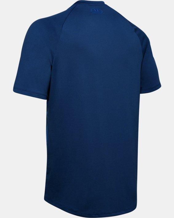 Men's UA Tech™ 2.0 Emboss Short Sleeve, Blue, pdpMainDesktop image number 4