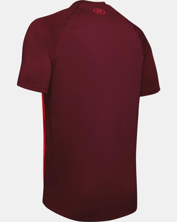 Men's UA Tech™ 2.0 Emboss Short Sleeve, Red, pdpMainDesktop image number 5