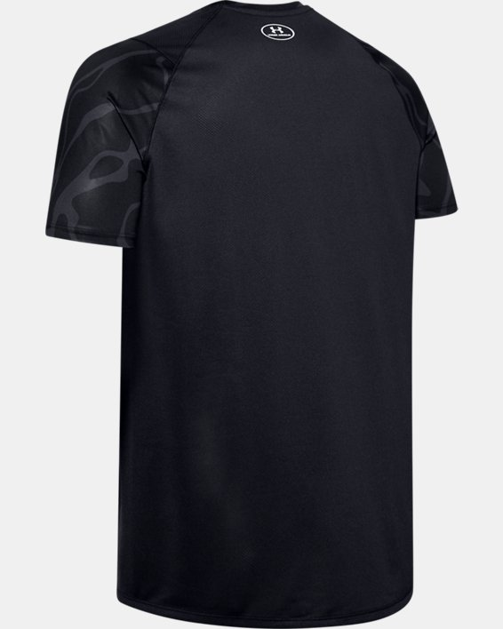 Men's UA MK-1 Tonal Print Short Sleeve, Black, pdpMainDesktop image number 5