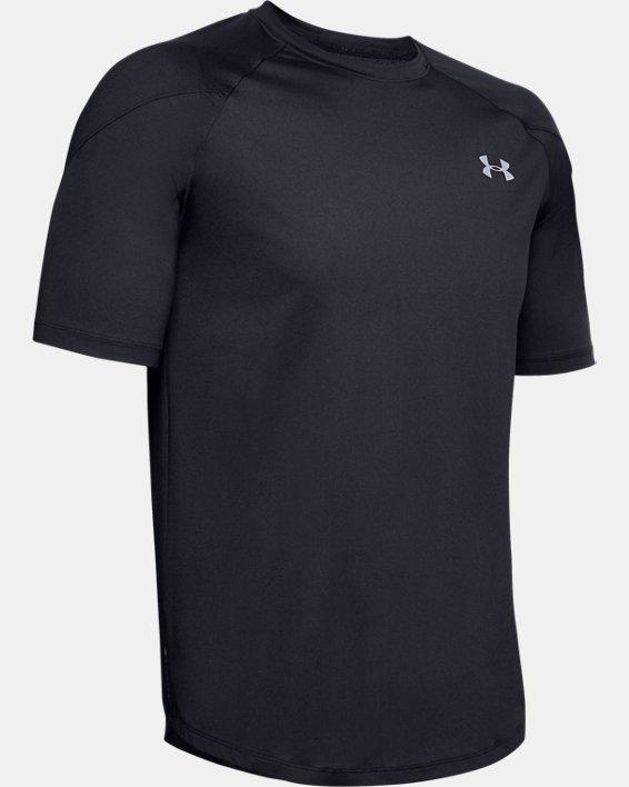 Men's UA RECOVER™ Short Sleeve, Black, pdpMainDesktop image number 3