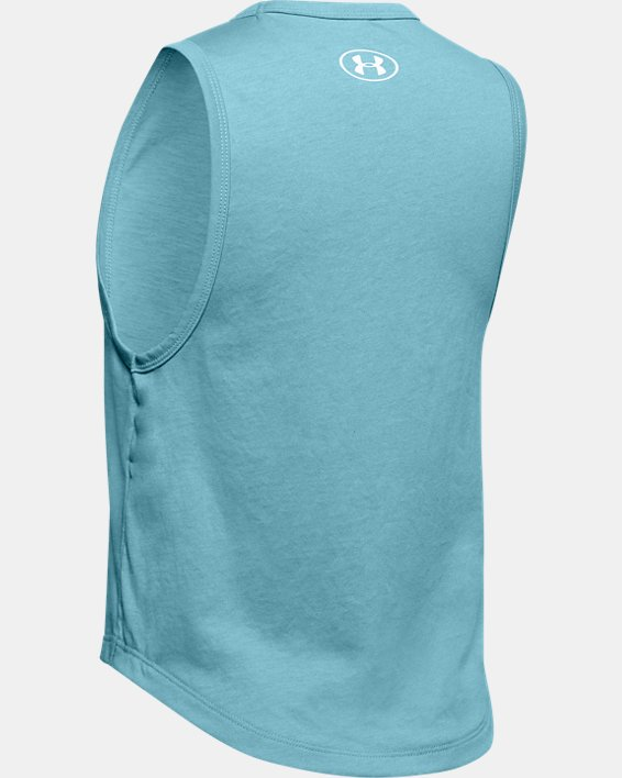 Girls' UA Branded Graphic Tank, Blue, pdpMainDesktop image number 1