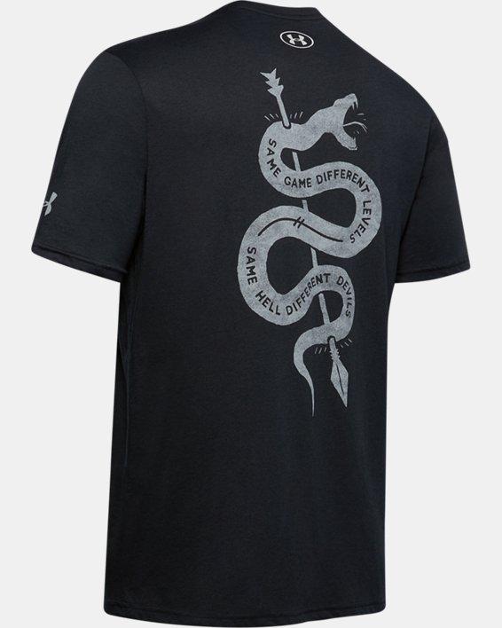 Men's Project Rock Snake Short Sleeve, Black, pdpMainDesktop image number 5
