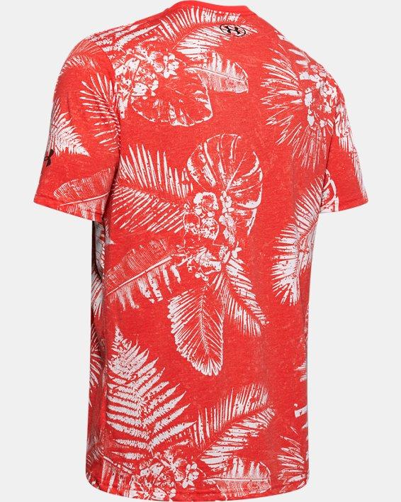 Men's Project Rock Aloha Camo Short Sleeve, Red, pdpMainDesktop image number 5