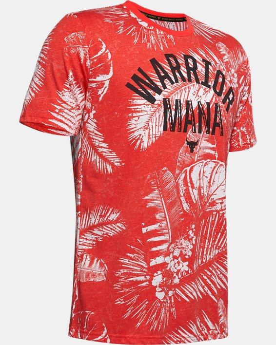 Men's Project Rock Aloha Camo Short Sleeve, Red, pdpMainDesktop image number 4
