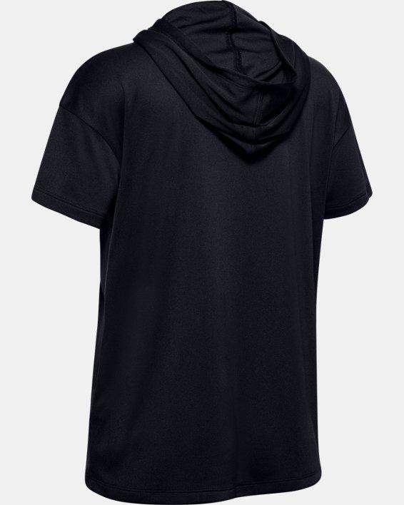 Girls' UA Tech™ Short Sleeve Hoodie, Black, pdpMainDesktop image number 1