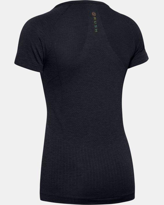 Women's UA RUSH™ Seamless Short Sleeve, Black, pdpMainDesktop image number 5