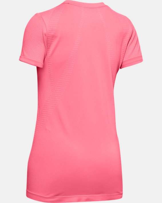 Girls' UA Seamless Short Sleeve, Pink, pdpMainDesktop image number 1