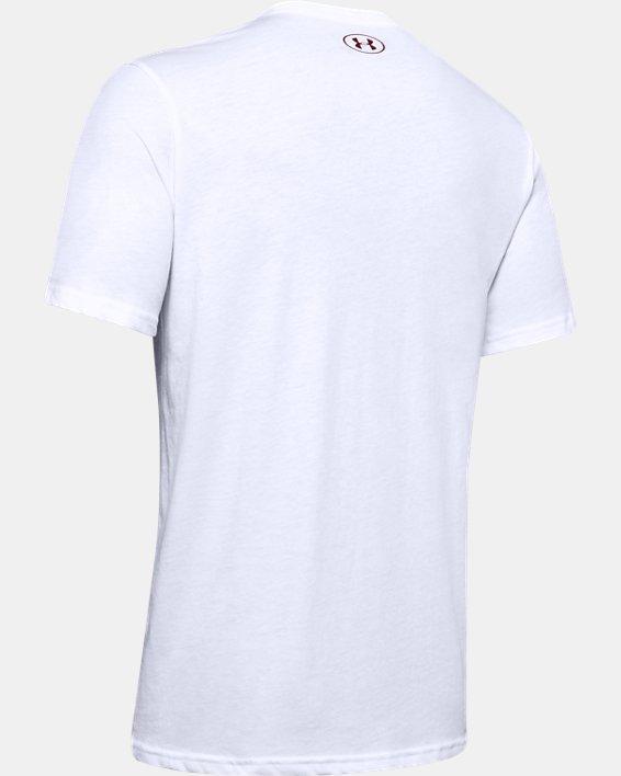Men's UA Boxed Sportstyle Camo Fill Short Sleeve, White, pdpMainDesktop image number 4