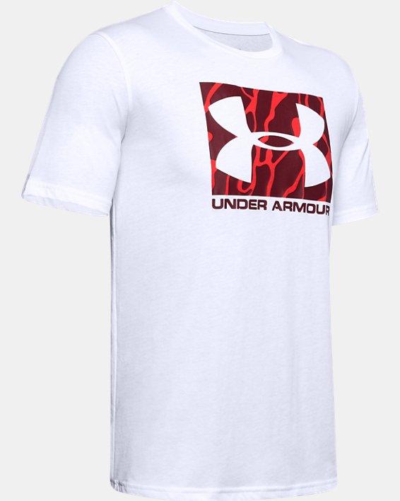 Men's UA Boxed Sportstyle Camo Fill Short Sleeve, White, pdpMainDesktop image number 3