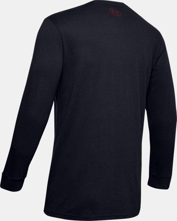Men's UA Sportstyle Fill Logo Long Sleeve, Black, pdpMainDesktop image number 4
