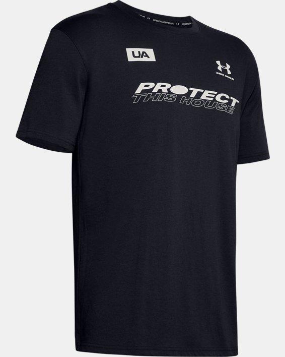 Men's UA PTH Back Short Sleeve, Black, pdpMainDesktop image number 4