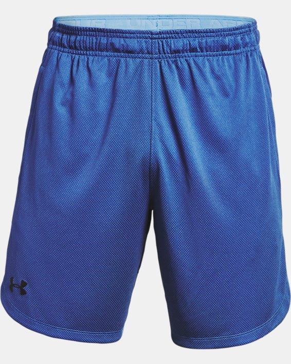 Men's UA Knit Performance Training Shorts, Blue, pdpMainDesktop image number 4